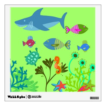 Art Themed Green Under the Sea Wall Decal