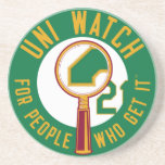 Green Uni Watch Coaster