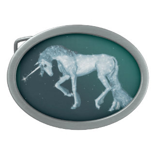 Green Unicorn Sparkles Belt Buckles