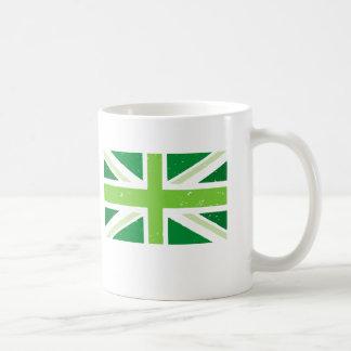 green union jack classic white coffee mug