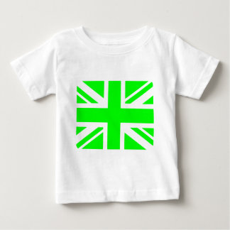 Green Union Jack design Baby T-Shirt