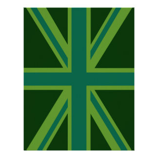 Green Union Jack Flag Decor Flyer