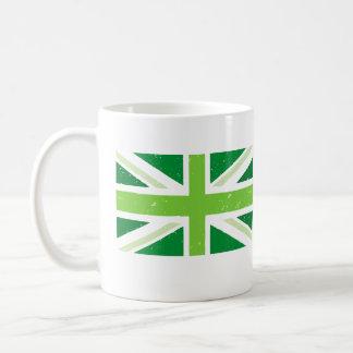 green union jack, GreenBritain Classic White Coffee Mug