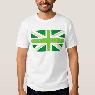 Green union jack t-shirts