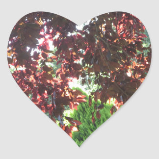 GREEN Unique Jungle Wild Garden  NewJersey NVN686 Heart Sticker
