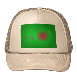 Green Universe and a Red sun Mesh Hat