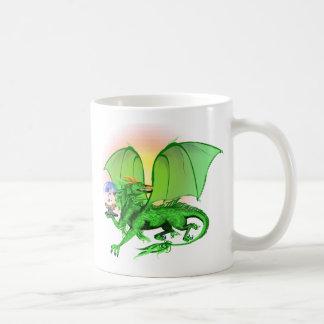 Green Universe Dragon and Sun Mugs