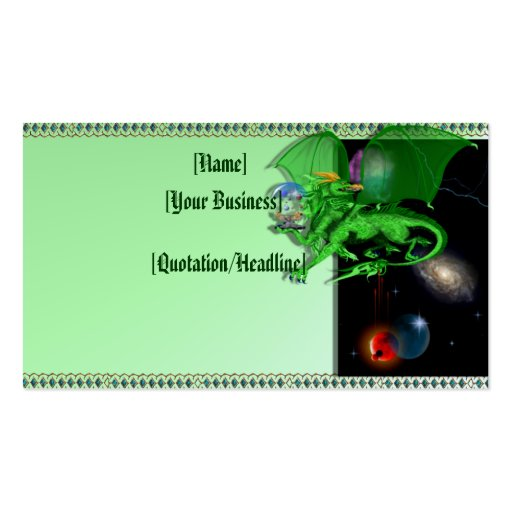 Green Universe Dragon profilecard_business_hori... Double-Sided Standard Business Cards (Pack Of 100)