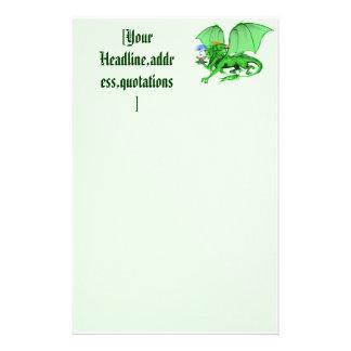 Green Universe Dragon stationery_vertical.v2., ... Stationery