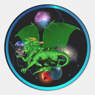 Green Universe Dragon-Stickers