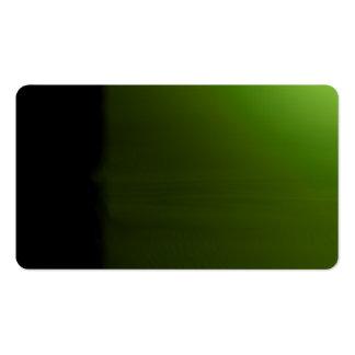 Green Unusual Visual Identifiers Biz Card