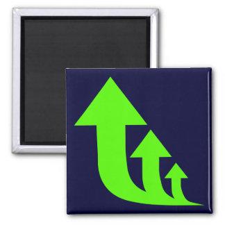 Green Up Arrows Fridge Magnet