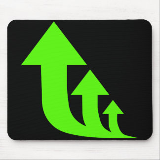 Green Up Arrows Mouse Pad