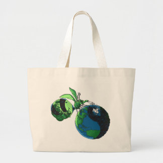 Green Up Bug Large Tote Bag