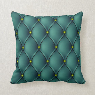 Green Upholstery and Nails Look Throw Pillow