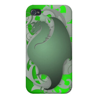 Green Urban Fantasy Dragon 4g I Cases For iPhone 4
