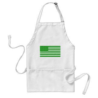 Green USA Flag Apron