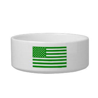 Green USA Flag Bowl