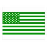 Green USA Flag Post Card