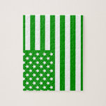 Green USA Flag Puzzle