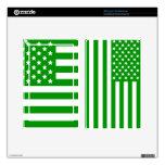 Green USA Flag Skin For Kindle Fire