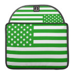 Green USA Flag Sleeves For MacBook Pro