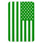 Green USA Flag Vinyl Magnet