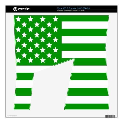 Green USA Flag Xbox 360 S Console Skin