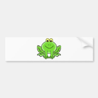 Green_Valentine_Frog_with_pink_hearts.png Bumper Sticker