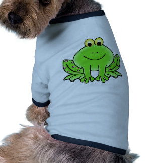 Green_Valentine_Frog_with_pink_hearts.png Camisetas De Mascota