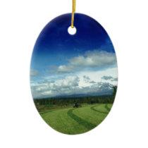 Green Valley Grass Ceramic Ornament
