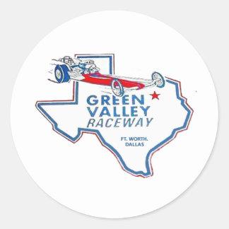 Green Valley Raceway Classic Round Sticker