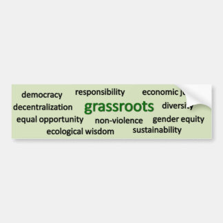 Green values and philosophy bumper sticker