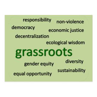 Green values & philosophy 2 postcard