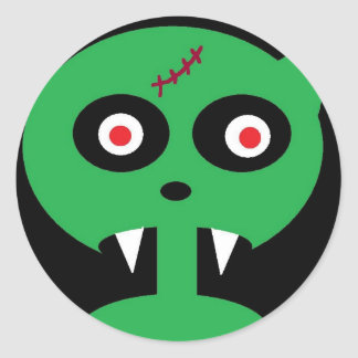 green vamp classic round sticker