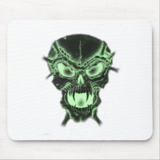 Green Vampire Skull Mouse Pad