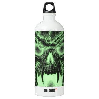 Green Vampire Skull Water Bottle