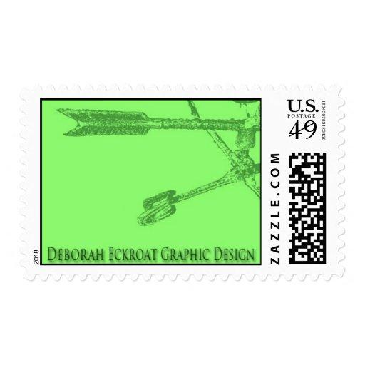 green vane postage stamp