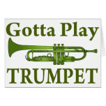 Green Variegated Gotta Play Trumpet Gift Cards