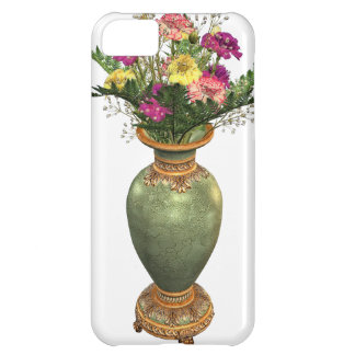 Green Vase and Floral Arrangement iPhone 5C Covers
