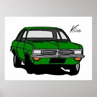 Green Vauxhall Viva HC Poster