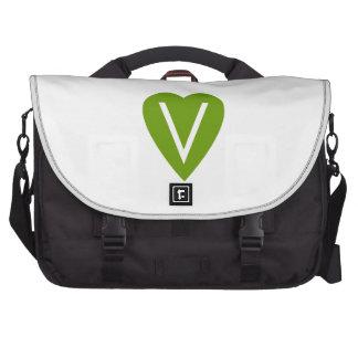Green Vegan Heart Commuter Bags