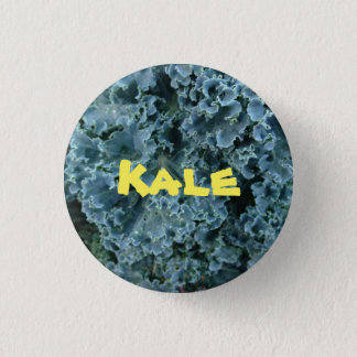 Green Vegan Kale Vegetarian Fashion Button