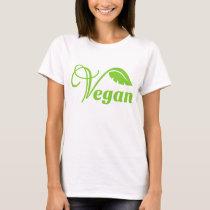 Green vegan logo T-Shirt