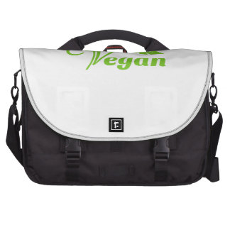 Green Vegan Symbol Laptop Commuter Bag