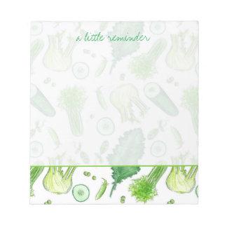 Green Vegetable Fennel Kale Reminder Notes