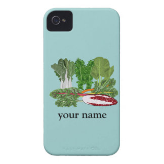 Green Vegetables Personalized Veggie Blackberry Case-Mate iPhone 4 Case