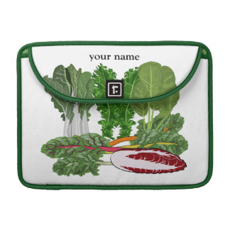 Green Vegetables Personalized Veggie Macbook Sleeves For MacBook Pro