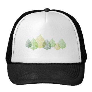 Green vein leaves, art illustration trucker hat