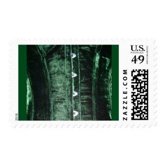 Green Velvet Corset Postage